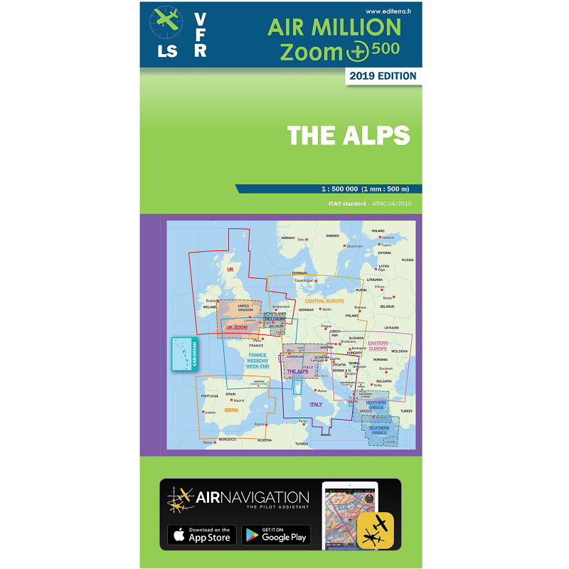 Carte Deurope Avec Zoom.Cartes Air Million Editerra